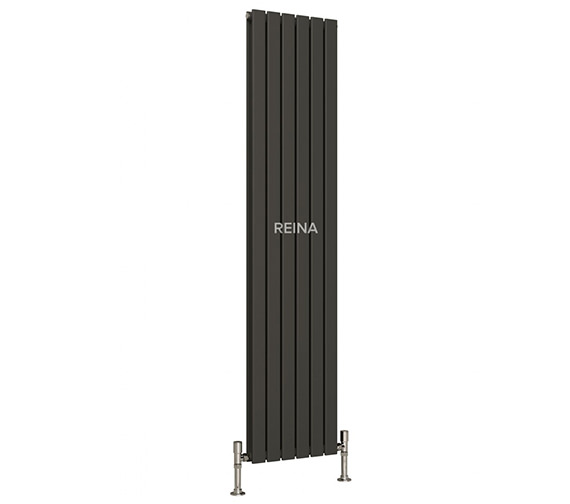 Additional image of Reina Flat 1800mm High Single Panel Vertical Steel Designer Radiator White Or Anthracite
