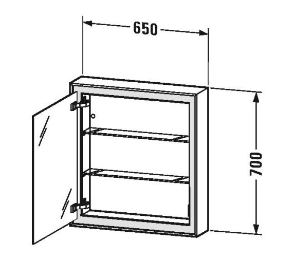 Technical drawing QS-V81957 / LC7550L0000