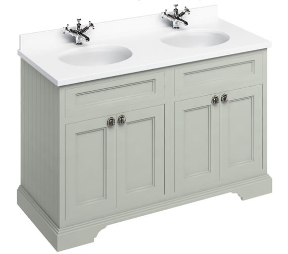 Additional image of Burlington 1300mm 4 Door Unit And Minerva Worktop With Two Basin - More Finishes Available