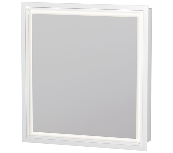 Duravit L-Cube 650mm Single Door Built-In Mirror Cabinet