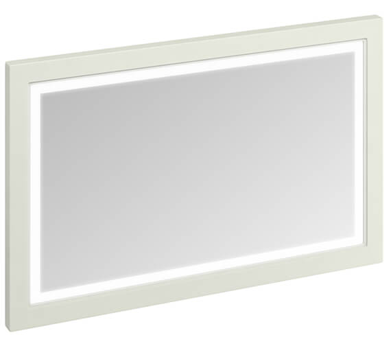 Additional image of Burlington 1200mm Matt White Framed Mirror With LED Illumination - More Finishes Available
