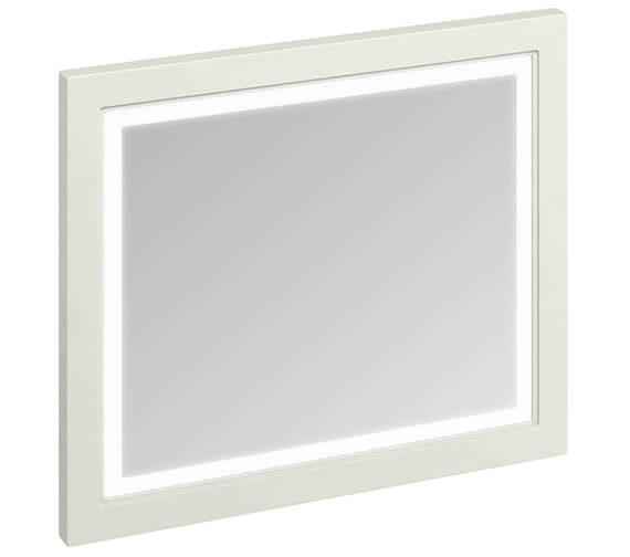 Additional image of Burlington 900mm Matt White Framed Mirror With LED Illumination - More Finishes Available