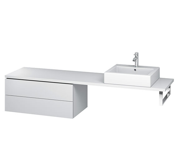 Duravit L-Cube 820mm 2 Drawer Floor Standing Vanity Unit For Console