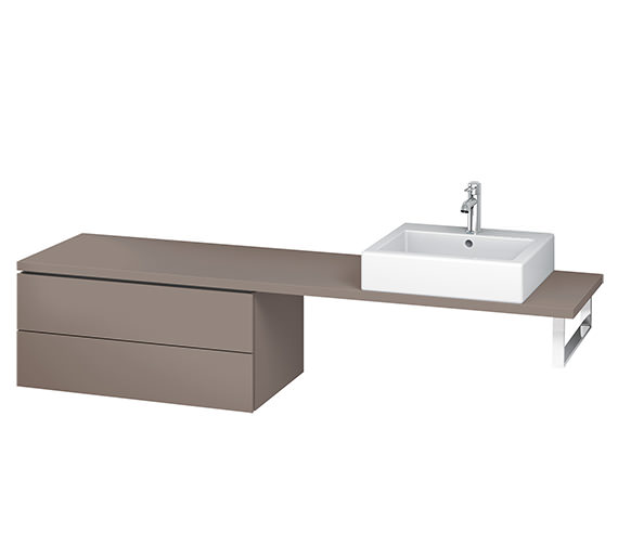 Additional image of Duravit L-Cube 820mm 2 Drawer Floor Standing Vanity Unit For Console