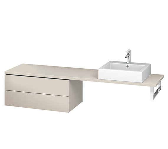 Alternate image of Duravit L-Cube 820mm 2 Drawer Floor Standing Vanity Unit For Console