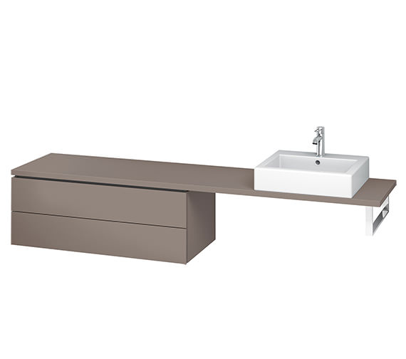 Additional image of Duravit L-Cube 1020mm 2 Drawer Floor Standing Vanity Unit For Console