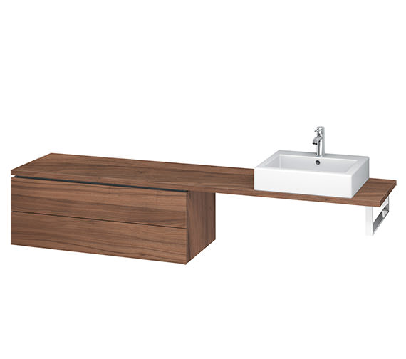 Alternate image of Duravit L-Cube 1020mm 2 Drawer Floor Standing Vanity Unit For Console