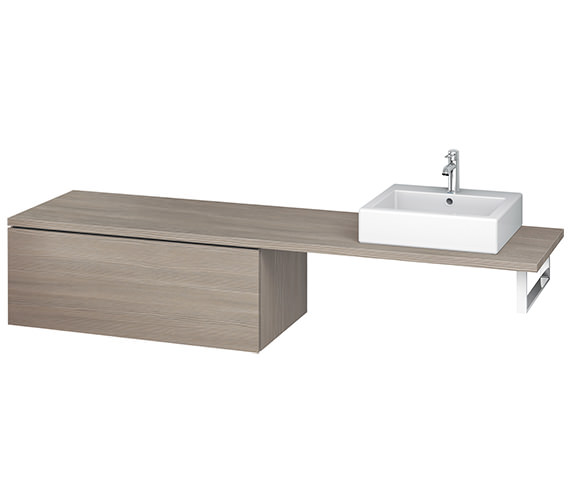 Additional image of Duravit L-Cube 1020mm Single Drawer Floor Standing Vanity Unit For Console