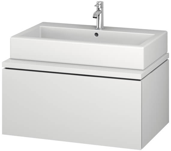 Duravit L-Cube 820mm White Matt Single Drawer Wall Hung Vanity Unit For Console