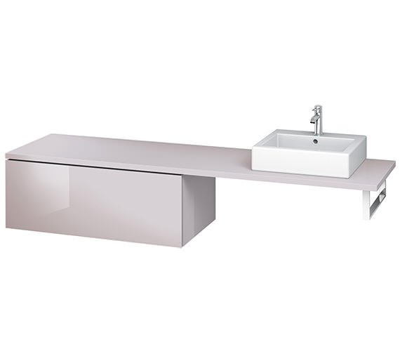 Alternate image of Duravit L-Cube 1020mm Single Drawer Floor Standing Vanity Unit For Console