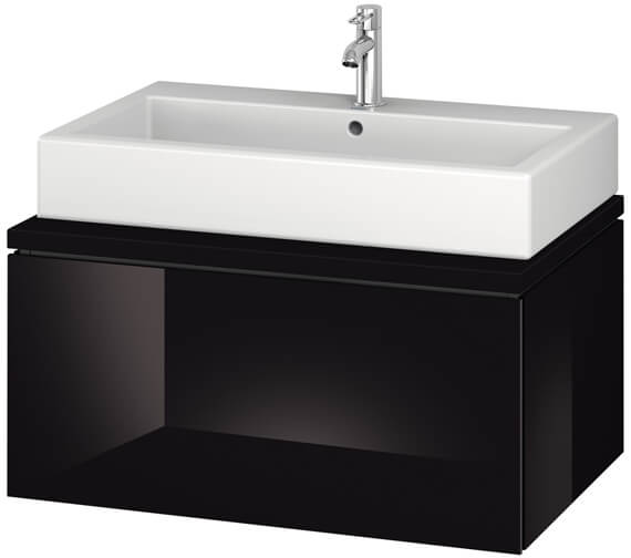 Alternate image of Duravit L-Cube 820mm White Matt Single Drawer Wall Hung Vanity Unit For Console