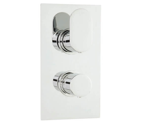 Hudson Reed Reign Twin Concealed Thermostatic Valve With Diverter