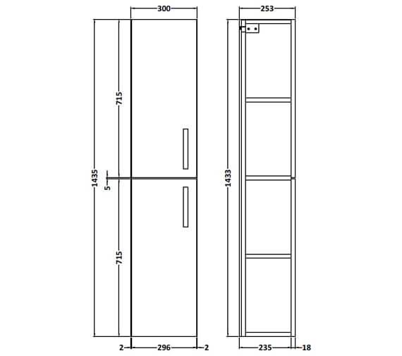 Technical drawing QS-V89288 / MOE162