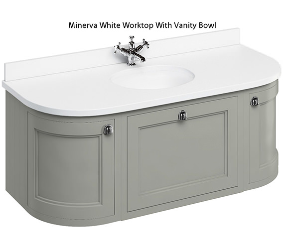 Additional image of Burlington 1340mm Curved Wall Hung Unit With Worktop And Basin