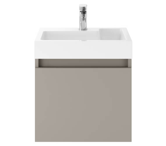 Additional image of Nuie Premier Merit 500mm Single Door Driftwood Wall Hung Vanity Unit With Basin