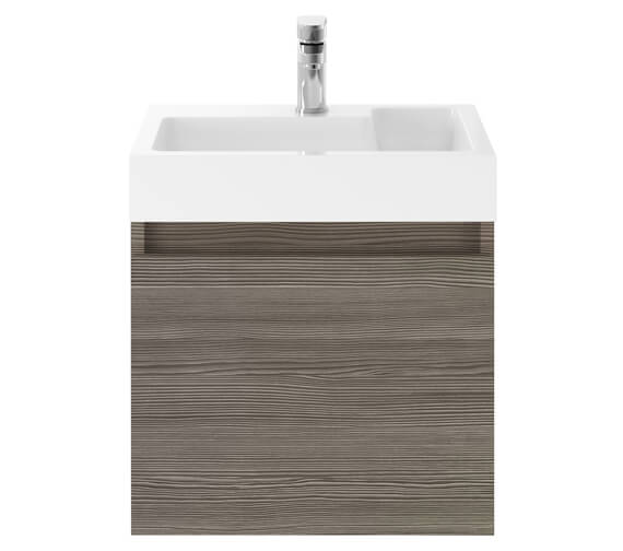 Alternate image of Premier Merit 500mm Single Door Gloss White Wall Hung Vanity Unit With Basin