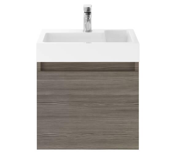 Alternate image of Nuie Premier Merit 500mm Single Door Driftwood Wall Hung Vanity Unit With Basin