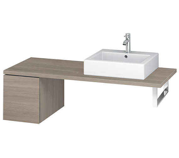 Additional image of Duravit L-Cube 320mm Single Drawer Floor Standing Vanity Unit For Console