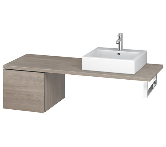 Additional image of Duravit L-Cube 420mm White Matt Single Drawer Floor Standing Vanity Unit For Console
