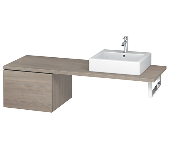 Additional image of Duravit L-Cube 520mm Single Drawer Floor Standing Vanity Unit For Console