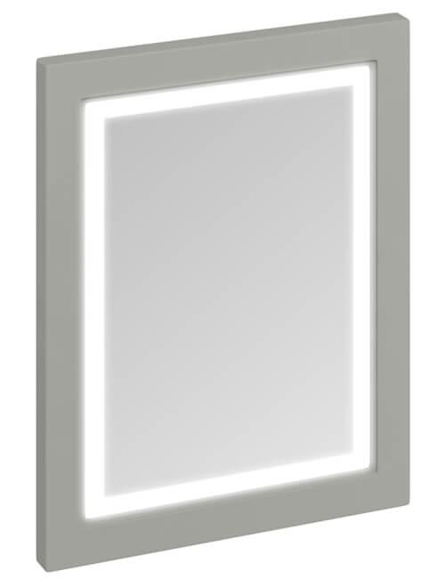 Additional image of Burlington 600mm Matt White Framed Mirror With LED Illumination