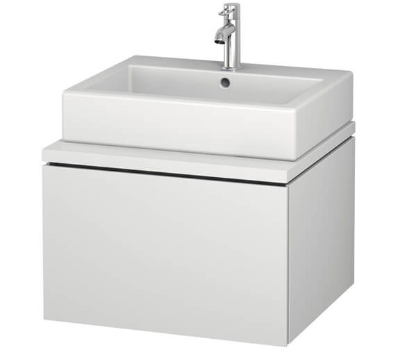 Duravit L-Cube 620mm White Matt Single Drawer Wall Hung Vanity Unit For Console