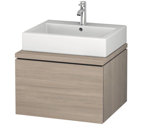 Additional image of Duravit L-Cube 620mm White Matt Single Drawer Wall Hung Vanity Unit For Console