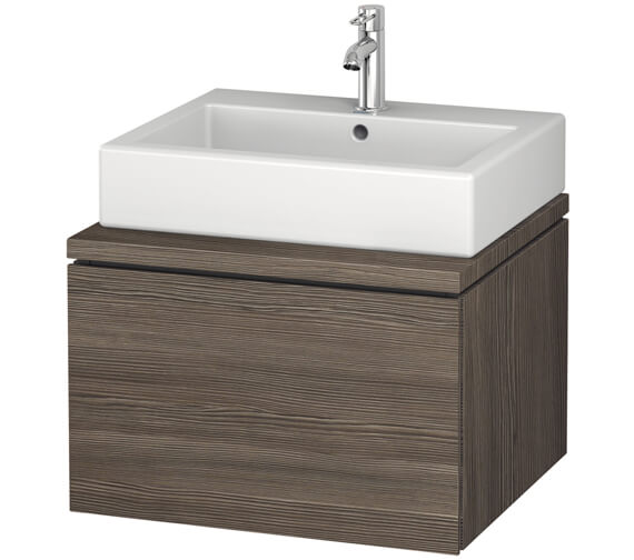 Alternate image of Duravit L-Cube 620mm White Matt Single Drawer Wall Hung Vanity Unit For Console