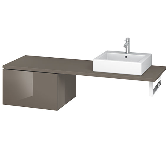 Alternate image of Duravit L-Cube 620mm Single Drawer Floor Standing Vanity Unit For Console