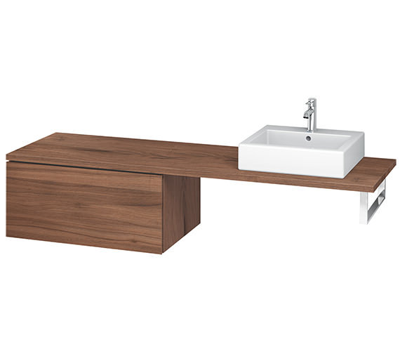 Alternate image of Duravit L-Cube 820mm Single Drawer Floor Standing Vanity Unit For Console