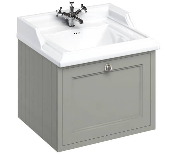 Additional image of Burlington Wall Hung 650mm Drawer Unit With Classic Basin
