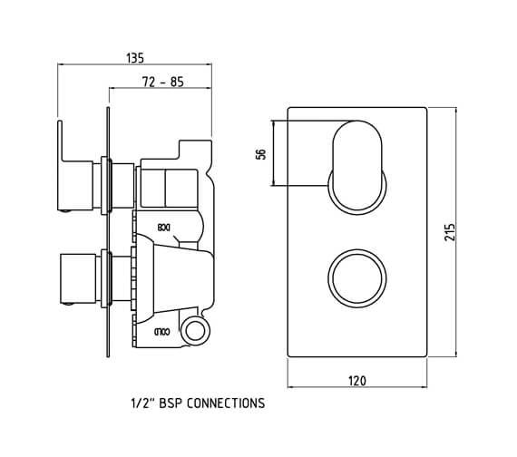 Technical drawing QS-V58525 / REI3610