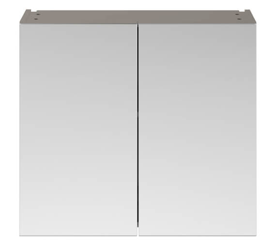 Additional image of Nuie Premier Athena 800mm Wall Mounted Mirror Unit Gloss White Finish