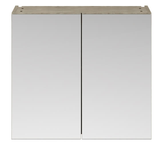 Additional image of Lauren Athena 800mm Wall Mounted Mirror Unit Gloss White Finish