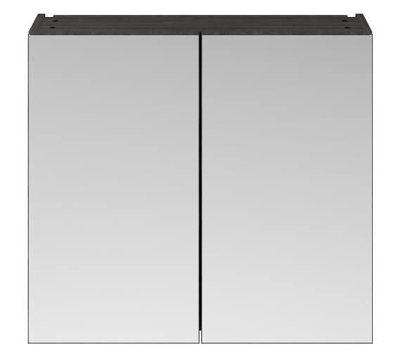 Alternate image of Premier Athena 800mm Wall Mounted Mirror Unit Gloss White Finish