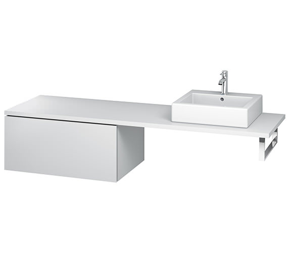 Duravit L-Cube 820mm Single Drawer Floor Standing Vanity Unit For Console