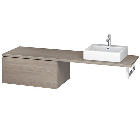 Additional image of Duravit L-Cube 820mm Single Drawer Floor Standing Vanity Unit For Console