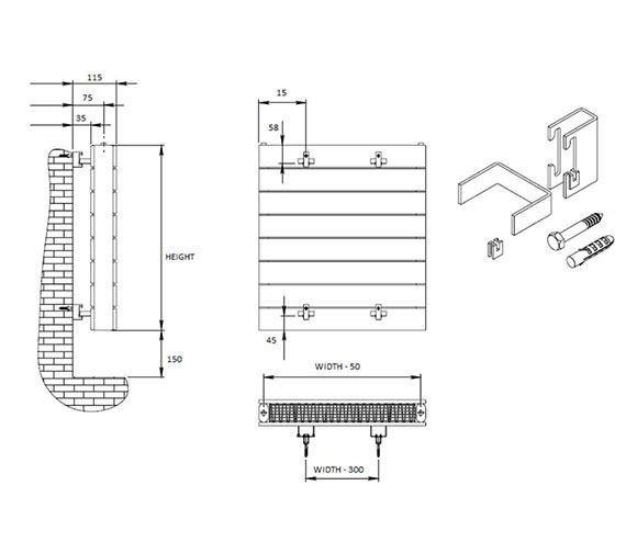 Technical drawing QS-V81062 / FC21/804W