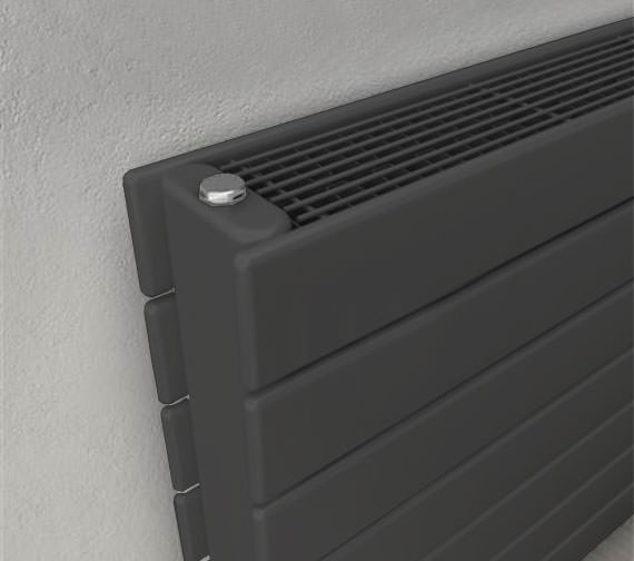Additional image of Reina Flatco Type 22 Steel 588mm High Designer Radiator In White Or Anthracite Finish