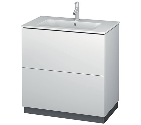 Duravit L-Cube 820mm Vanity Unit With Me By Starck Basin