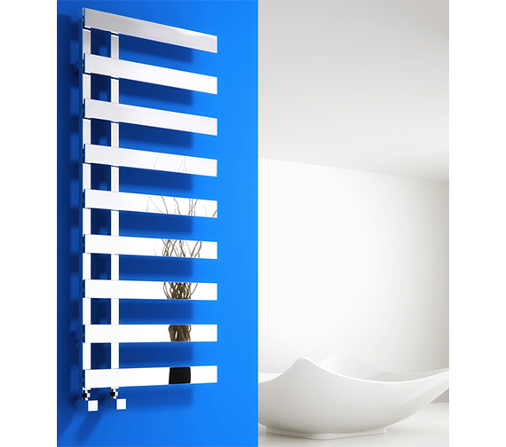 Reina Florina 500mm Wide Chrome Steel Designer Radiator