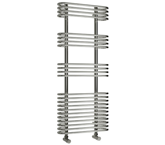 Reina Mirus 500 x 900mm Chrome Steel Designer Radiator - More Height Size Available