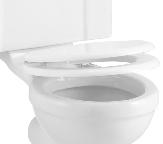 Additional image of Burlington Soft Close Toilet Seat Oak