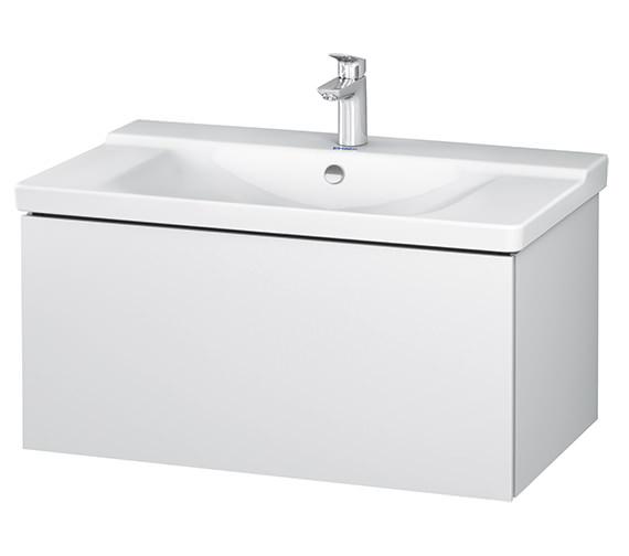 Duravit L-Cube 820 x 481mm White Matt 1 Drawer Wall Mounted Vanity Unit