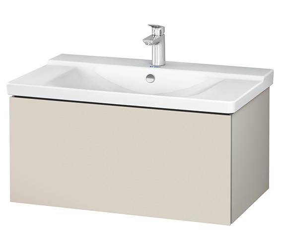 Alternate image of Duravit L-Cube 820 x 481mm White Matt 1 Drawer Wall Mounted Vanity Unit