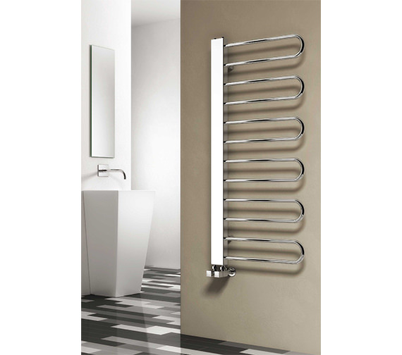 Reina Larino 540 x 780mm Chrome Steel Designer Radiator