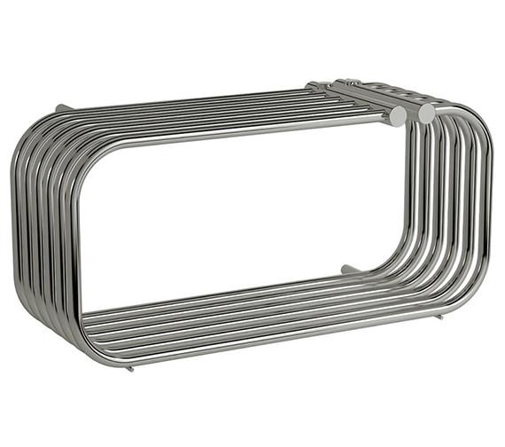 Reina Luda 700 x 250mm Chrome Steel Designer Radiator