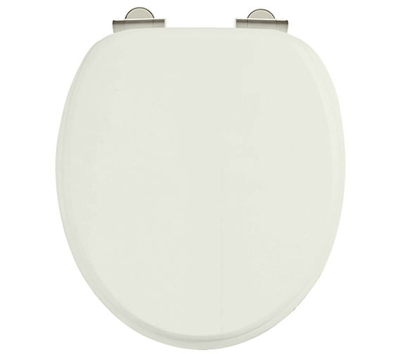 Additional image of Burlington Soft Close Wooden Toilet Seat Matt White