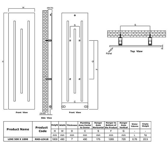 Technical drawing QS-V81081 / RND-LE418W