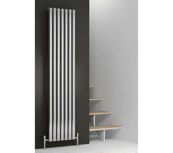 Reina Neva 1800mm High Chrome Single Panel Vertical Designer Radiator